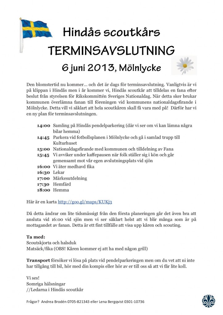 Terminsavslutning VT13