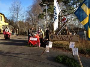 Scouterna på julmarknad